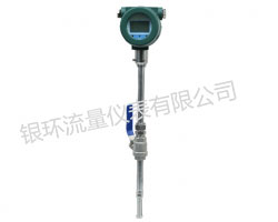 Thermal gas mass flow meter plug-in