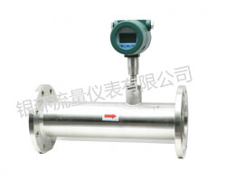 Thermal gas mass flow meter flange
