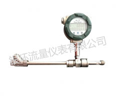 Threaded liquid turbine flowmeter