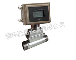 Threaded gas turbine flowmeter
